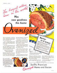Swift's Premium Ovenized Hams and Bacon, 1932 (Tom Simpson) Tags: 1932 1930s vintage ad ads advertising advertisement vintagead vintageads food swift swiftspremium swifts ham easter easterham