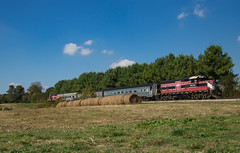 HOS 464 Lincoln City IN 15 Oct 2016 (Train Chaser) Tags: train locomotive hoosiersouthern lincolncity