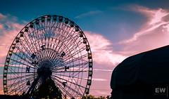 Texas Star (fenderltd) Tags: texas texasstatefair sky ferriswheel texasstar clouds statefair beauty lights love amusement park wheel pattern