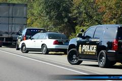 Saraland PD K-9  Chevrolet Tahoe (FutureLEO1994) Tags: alabama slicktop k9 canine tahoe chevrolet chevy traffic stop black steelie white lights saraland crownvic crown vic victoria