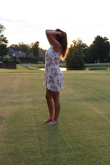 IMG_1052 (joshsagar) Tags: photoshoot pictures girl dress road smiles canon twirl golf course dab log water photography photos river arkansas central back roads sunset trees ar ark t5