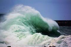 Mushroom wave. (artanglerPD) Tags: sea breakwater mist foam rocks