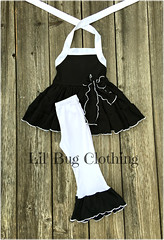 Black White (Lil' Bug Clothing) Tags: black white halter leggings pang outfit