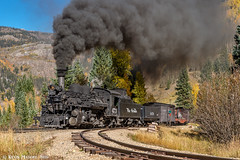 Charging through Elk Park (kdmadore) Tags: drgw denverriograndewestern durangosilverton dsng durango silverton steamlocomotive steamengine railroad train narrowgauge