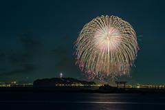 2016 (Mori.Kei) Tags:    hanabi  fireworks   night nightvew  sea  lighthouse