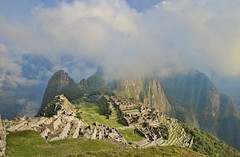 Foggy Machu Picchu (MalancaA) Tags: machu picchu inca andes landscape panorama foggy