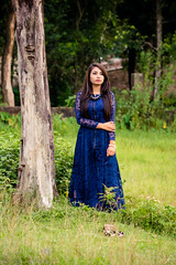    The time you feel lonely is the time you most need to be by yourself. Douglas Coupland    (NahidHasan95) Tags: women girl green grass glamour gorgeous gown lady lastlight nature alone outdoor human portrait fashion bangladesh