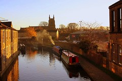 Stoking up at Skipton (Chris Baines) Tags: skipton leeds liverpool canal barges holy trinity church