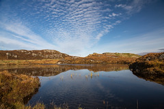 flat calm on the isle of lewis (Sunshinenshadows) Tags: isleoflewis outerhebrides lochan clouds reflections blueskies autumncolours