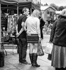 The Helping Hand (Geoff France) Tags: street streetphotography mono monochrome blackandwhite salfrod salfordquays lowry mediacentre streetmarket
