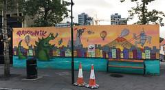 Under Reconstruction by Oligumm (wiredforlego) Tags: graffiti mural streetart urbanart publicart reykyavik iceland kef kaiju godzilla oligumm