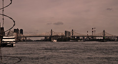 QueensboroBridge (hiimlynx) Tags: queensborobridge queensboro bridge newyork newyorkcity manhattan manhattanskyline skyline sepia dark roosevelt island eastriver nyc ny september 2016 fall