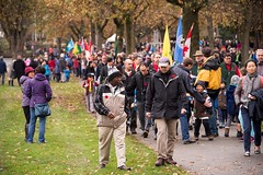 20161111_0056_1 (Bruce McPherson) Tags: brucemcphersonphotography remembranceday southmemorialpark southmemorialparkcenotaph cenotaph vancouverpolice vpd cadets marchpast march marching autumn fall fallleaves memorial vancouver bc canada