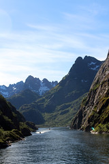 Entering the Trollfjord on a Tourist Ship (4) (Phil Masters) Tags: 21stjuly july2016 norwayholiday norway raftsund raftsundet thetrollfjord trollfjorden trollfjord