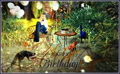 Happy Birthday to me (LadyWhite Falcon) Tags: happy birthday jian sl secondlife hilly haalen truth hair alaskametro ikon home