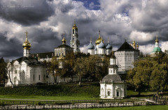 Trinity-Sergius Lavra (Lyutik966) Tags: trinitysergiuslavra sergievposad monastery architecture church temple belltower dome orthodox cross museum monument russia sky clouds city