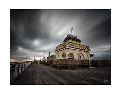 Bluster (Mike Hankey.) Tags: landscape melbourne pier published colour cloud stkilda sunset kiosk