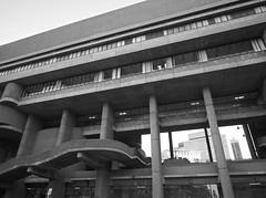 Looking through Linneman to Saltonstall and Ashburton (iMatthew) Tags: brutalism brutalistarchitecture architecture bostonarchitecture boston governmentcenter bw