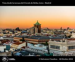 D8A_9994_bis_Madrid (Vater_fotografo) Tags: salvatoreciambra madrid círculodebellasartes vaterfotografo sunset tramonto tramonti colori nikonclubit nikon nuvole nwn nuvola nube ngc ciambra clubitnikon cielo controluce
