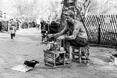 chopsy (mfauscette) Tags: street leica nyc blackandwhite bw musician music film kodak manhattan washingtonsquarepark m streetperformer bnw kodaktmax400 leicam6 blackandwhitebw