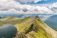 The Awesome Striding Edge and Red Tarn (Kiseki Studio) Tags: summer england sky mountains water beautiful clouds walking landscape scenery rocks lakes lakedistrict scenic sunny bluesky ridge climbing cumbria views vista serene rambling stridingedge patterdale hellvellyn redtarn brotherswater