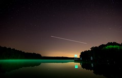 I Woke Up at 2AM to Take Pics of Airplanes..... (cwhitted) Tags: longexposure samsung chathamcounty jordanlake primelens moncure rokinon nx30 samsungnx30 beverettjordanlake rokinon12mmf20 rokinon12mmf20ncscs
