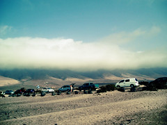Road to paradise (|Raquel|) Tags: road summer sky espaa beach spain desert lanzarote playa desierto