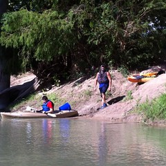 Kevin and Jeffery are the last in the Guadalupe River. (shark44779011) Tags: me kayaking