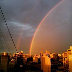 Belleza (Mar. C) Tags: arcoiris atardecer rainbow sony double smartphone telefono doublerainbow doblearcoiris