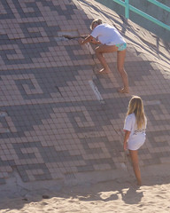 DSC_5182 (Kevin MG) Tags: ocean ca girls usa cute art beach water youth climb losangeles pretty little young bikini manhattanbeach bikinis preteen cbva