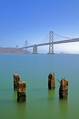 Oakland Bay Bridge (CJungman) Tags: sanfrancisco longexposure bridge sea bw water 30 canon oakland bay san francisco long exposure waterfront nd 2470mm oaklandbaybridge neutraldensity canon2470mm canon7d