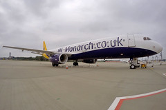 Monarch Airlines - G-OZBE - London Gatwick (EGKK/LGW) (Andrew_Simpson) Tags: uk plane airplane sussex westsussex unitedkingdom aircraft 321 aeroplane apron monarch airbus gb mon zb gatwick charter a321 lgw gatwickairport greatbritian londongatwick airside monarchairlines charterairline gopro egkk londongatwickairport a321200 gozbe 321200 goprocamera hero4 davzh gopropic goprohero4 goproaviation hero4black