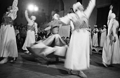 Whirling Dervishes practice a ritual dance