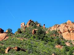 Red Rock Flyover, Oak Creek Canyon AZ 9-15 (inkknife_2000 (7.5 million views +)) Tags: usa landscapes redrocks redrock contrails flyover hoodoos oakcreekcanyon sandstoneformations sliderockstatepark sedonaaz dgrahamphoto