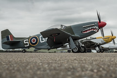 Mustangs at rest (Nick Collins Photography, Thanks for 2 million vie) Tags: uk england museum canon flying aircraft military north gas frankie airshow american ww2 duxford mustang cambridgeshire raf ferocious p51d imperialwarmuseum iwm usaaf