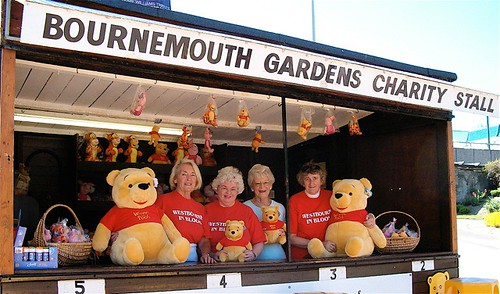 Westbourne in Bloom Committee Teddy Bear Stall (Left to right Maureen Rouse, Winnie Thomas, Edna Lipscombe, Averil Baldwin) by Andre Thomas