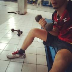 #exercise #badminton #แบดมินตัน ฮๅๅๅ...😄😄😄