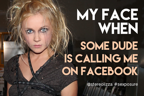 Callling On Facebook - Stereolizza Sexposure Meme