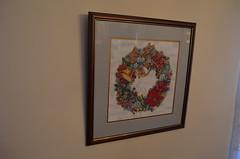 Christmas Decorations (ssfaulkn) Tags: christmas family decorations art crossstitch crafts needlepoint wreath