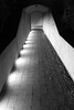 Follow the Lighted Path (JB by the Sea) Tags: sanfrancisco california goldengatepark blackandwhite bw deyoungmuseum night jamesturrell publicart skyspace threegems november2015