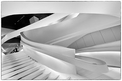 Staircase in Giorgio Armani Store on 5th Avenue, NYC (nianci pan) Tags: city urban abstract geometric architecture design pattern geometry interior sony line staircase pan curve    sonyalphadslr nianci sonyphotographing
