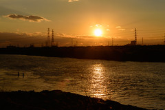 1Yodo River at sunset (anglo10) Tags: sunset japan river