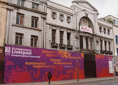 """It's happening in Liverpool"". (philipgmayer) Tags: limestreet picturehouse futurist cinema demolished liverpool uk"