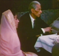 Jinnah at a reception with Mrs. Mumtaz Akbar Khan (Doc Kazi) Tags: pakistan india independence negotiations ceremonies jinnah gandhi nehru mountbatten viceroy wavell stafford cripps edwina fatima muhammad ali
