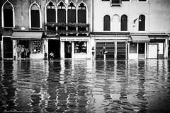 Streetwater (alessandrafinocchiaro67) Tags: monochrome mood blackwhite street streetlight people open venice venezia venedig venecia streetwater highwater reflections nikond750 nikonflickraward flickrtravelaward