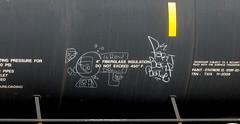 (timetomakethepasta) Tags: leroy drown fart barf batle freight train graffiti art tanker moniker