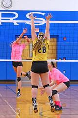 IMG_9964 (SJH Foto) Tags: girls volleyball high school lampeterstrasburg lampeter strasburg solanco team tween teen east teenager varsity net battle spike block action shot jump midair