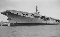 Possibly HMS Warrior (R31) (goweravig) Tags: hmswarrior rivertamar royalnavy hamoaze ship shipping devon england uk r31