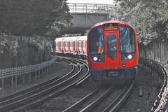 Underground - Overground (gary8345) Tags: 2016 uk greatbritain britain england london londonist londonunderground tube thetube track train station tfl transportforlondon snapseed selectivecolouring selectivecoloring