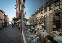 Street in a Shop Window (julie m r1) Tags: medieval town germany shop window reflection cobbled street